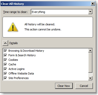 clear history 1